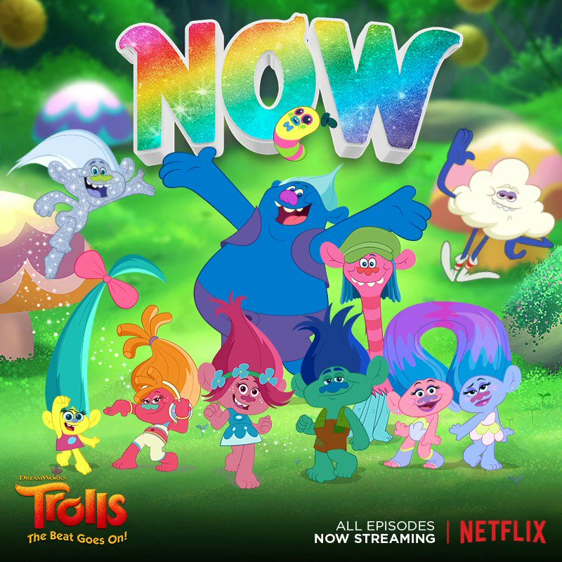 RT @Trolls: Put your hair in the air! #DreamWorksTrolls: #TheBeatGoesOn is now streaming on @Netflix! #DWTrollsTV https://t.co/aFXmkPCB5t