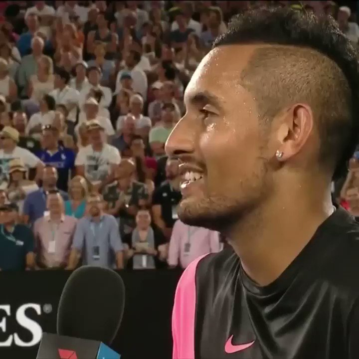 Nick Kyrgios got flipped turned upside down when he saw Will Smith in the stands �� https://t.co/VHvtWflvTQ