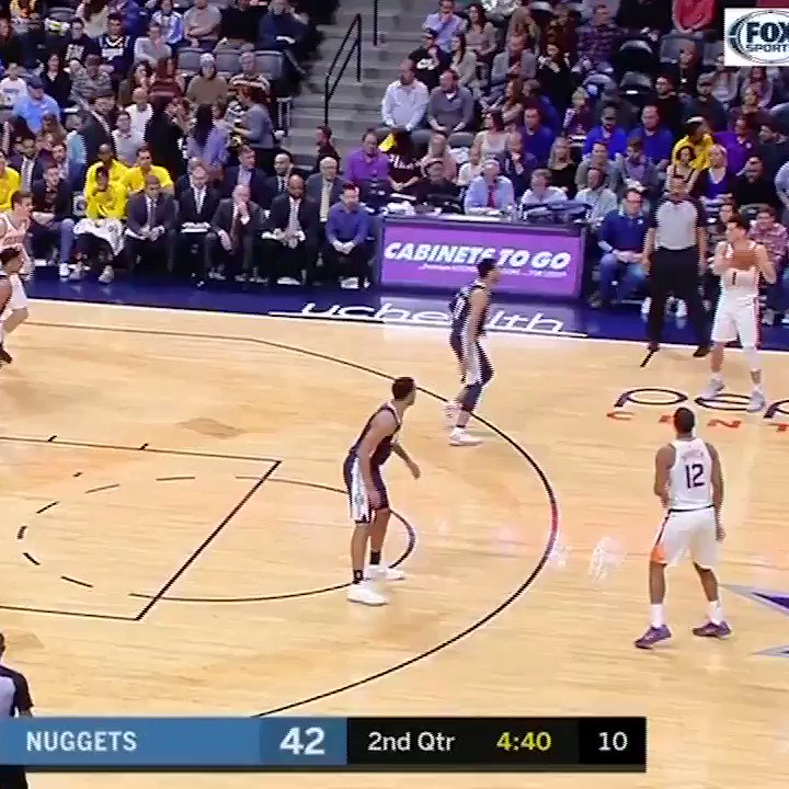 Devin Booker mimicked Jamal Murray's bow-and-arrow celebration. ... Murray had an answer. https://t.co/abBksWW076