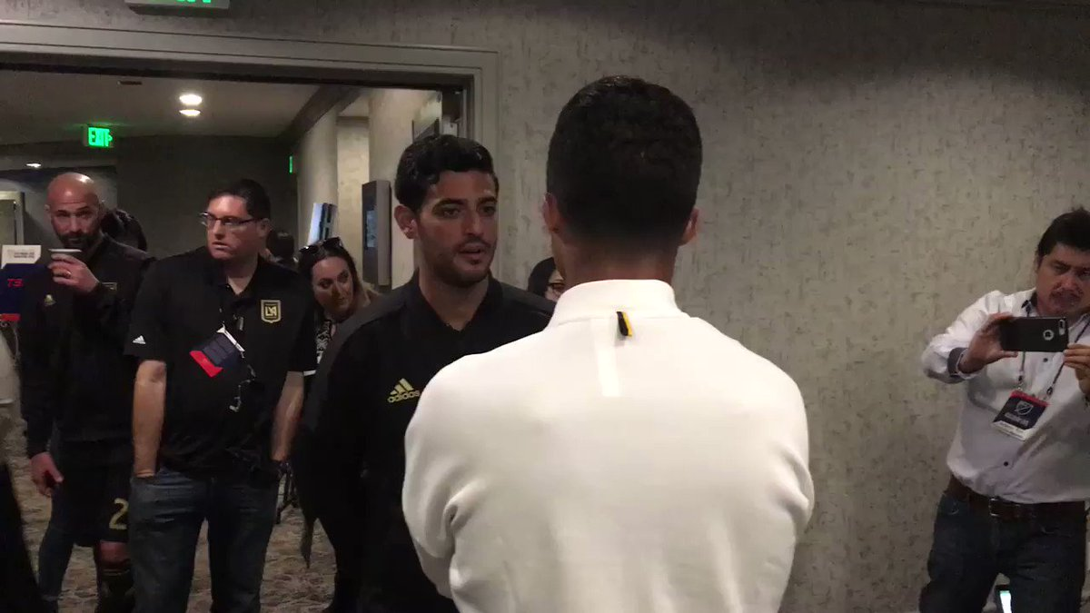"""RT @LAFC: """"Don't speak with him.""""  @LaurentCiman23 already looking out for @11carlosV 😅 https://t.co/SXyXwzFJ8e"""