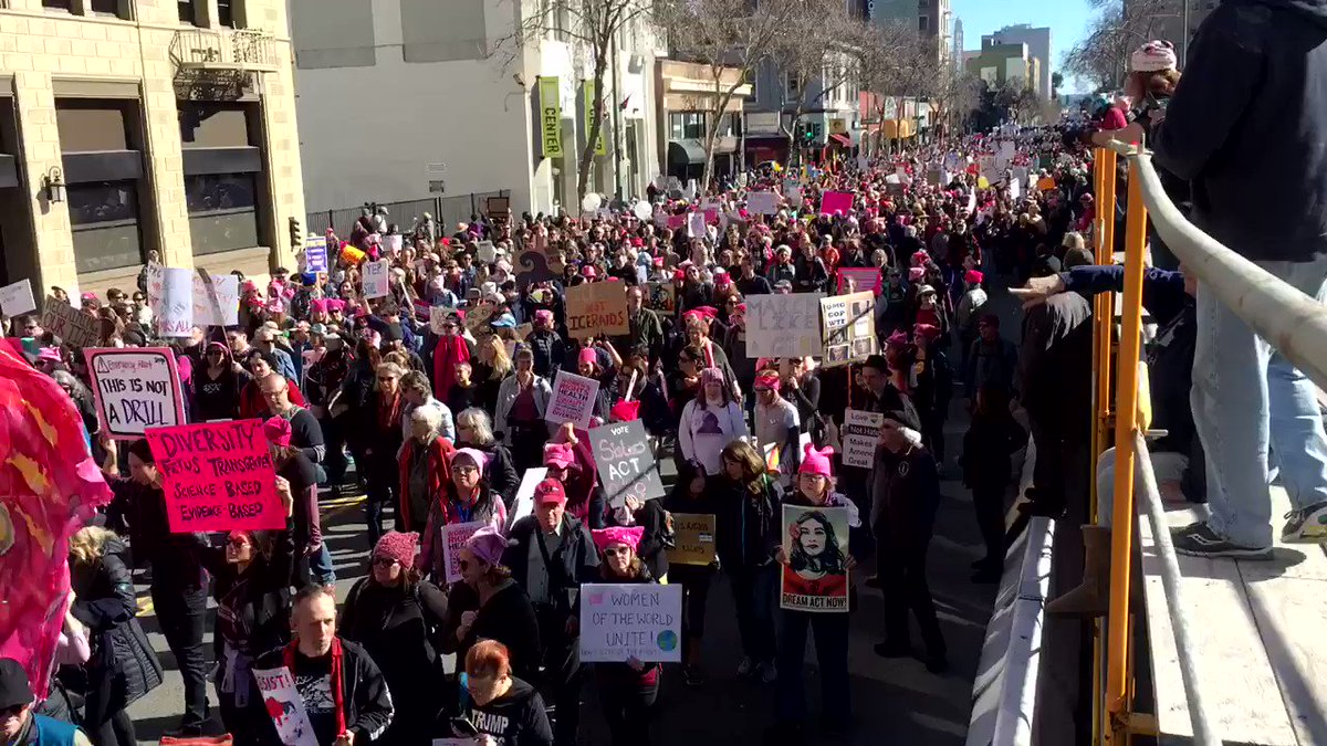 RT @blakersdozen: Here's a time lapse of a fraction of the Women's March in Oakland https://t.co/WTpseYzPTq