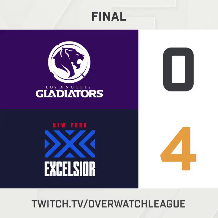 The @NYXL defeat the @LAGladiators 4-0 to maintain their perfect record! #OWL2018  https://t.co/U6dIipgQGs https://t.co/qPV4nk6m7y