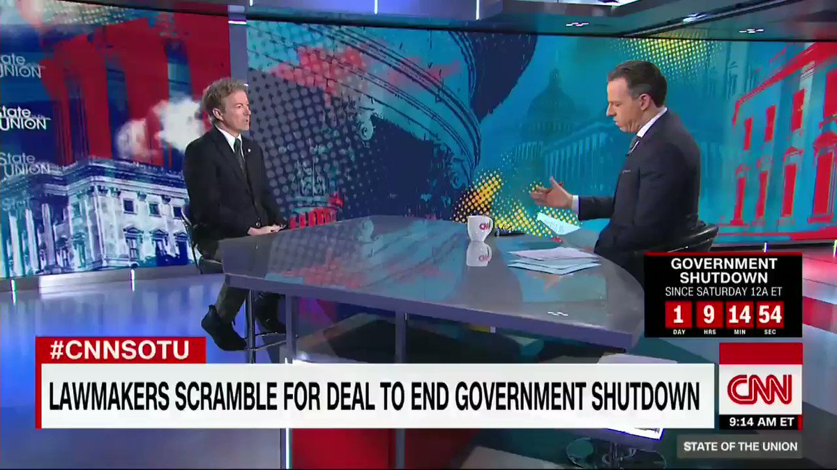 Republican Sen. Rand Paul says Democrats spiked his immigration compromise to end shutdown https://t.co/LaZBMpZuPV https://t.co/4aDj8rtWP3