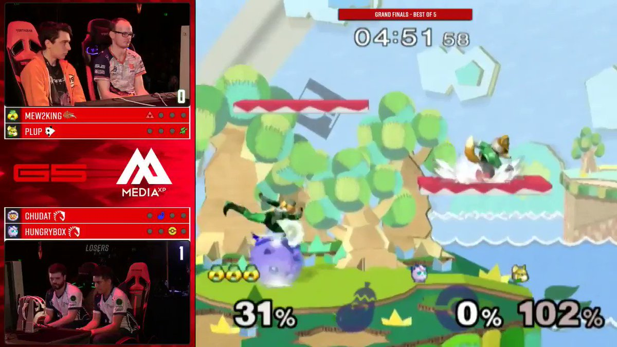 You know @PG_Plup and @MVG_Mew2King actually practiced how they'd punish Hbox if he missed rest.   #G5 https://t.co/6eQq7zDJPU