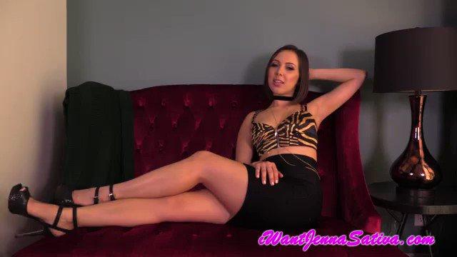 Horny Latina Jenna Sativa puling down her panties to masturbate her wet crotch  1549718