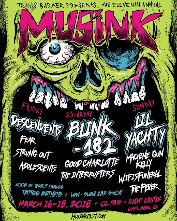 Just announced @Musink_TatFest line-up! See you March 16-18th ???????? https://t.co/CIrWzLXRKy