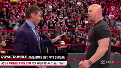 What A Stunning Start of #RAW25. 2 Stunners To #ShaneMcMahon  & 1 To #VinceMcMahon By  #StoneColdSteveAustin https://t.co/nBHXvbp9Tf