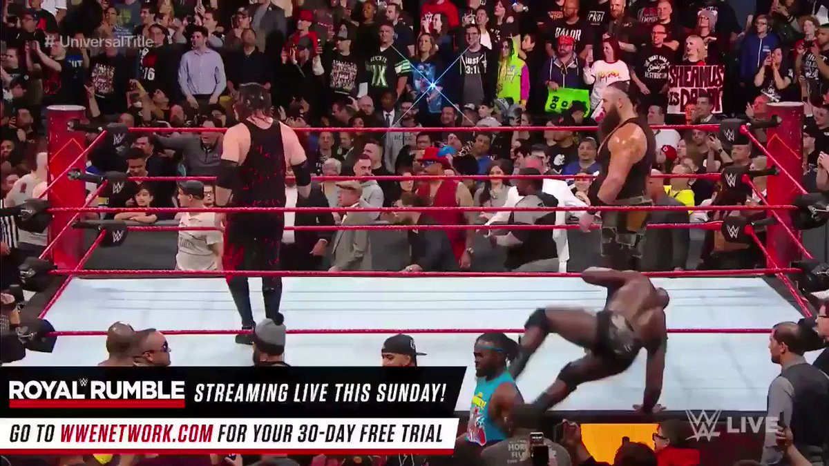 #BraunStrowman Makes A  Huge Statement On #RAW25 By  Closing The Show With A Bang https://t.co/LKA4p85Ra4