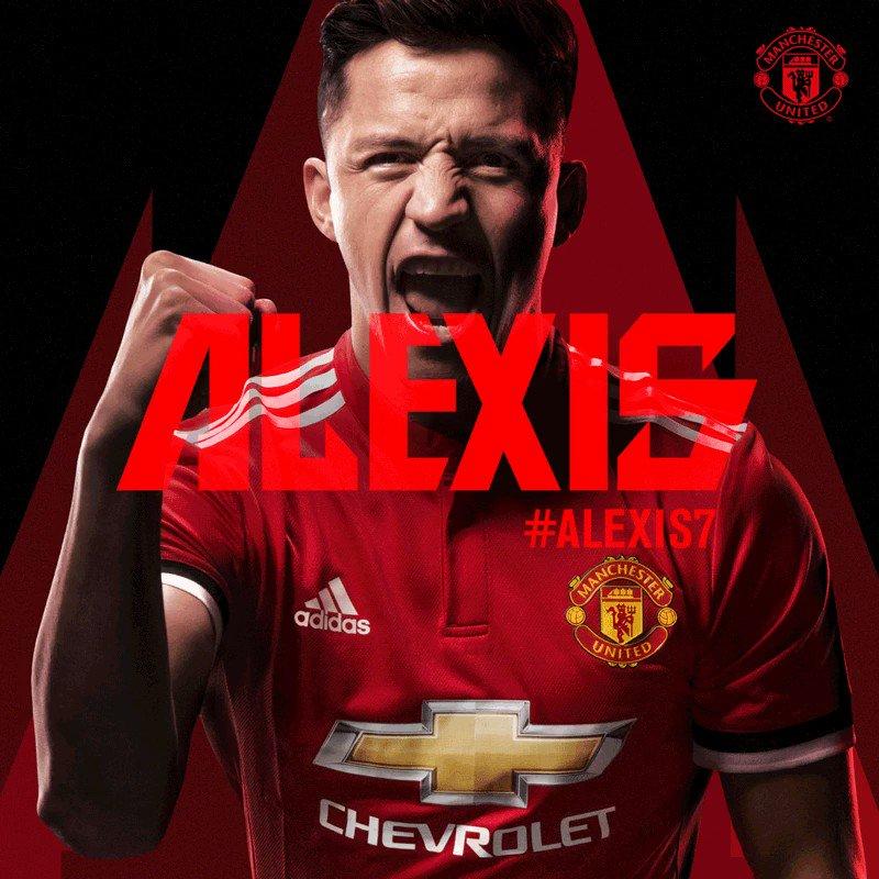 RT @ManUtd_JP: 2️⃣0️⃣1️⃣8️⃣年1月22日、#MUFC が@Alexis_Sanchezと契約 😉 https://t.co/92rhSaRVQ5