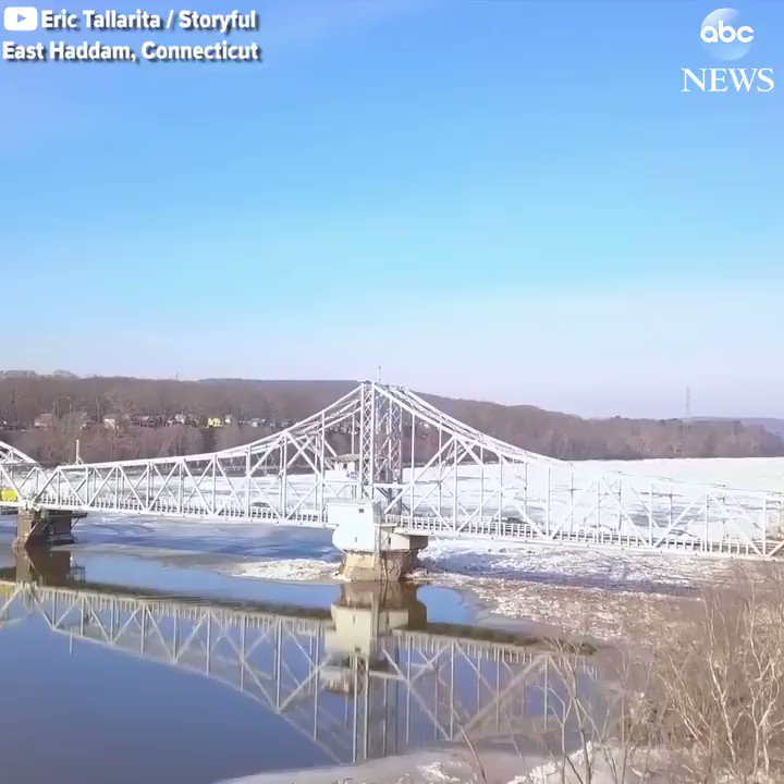 Incredible drone footage captures an ice jam on the Connecticut River in Haddam, CT.