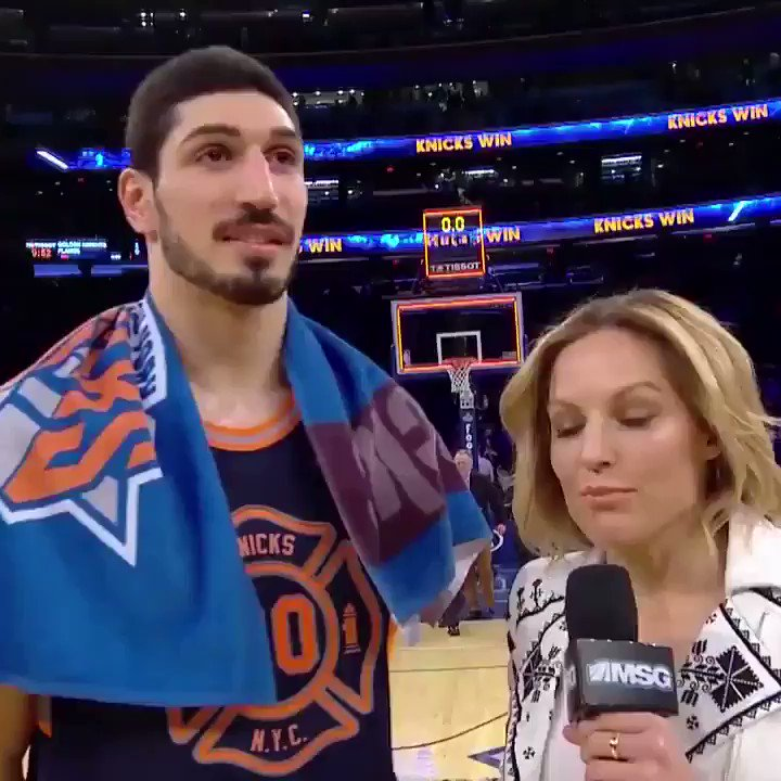 RT @Enes_Kanter: It was an honor to wear this jersey.   https://t.co/StzAfh9yGu