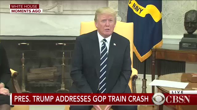 NOW: Pres. Trump addresses Virginia train crash involving GOP lawmakers en route to retreat