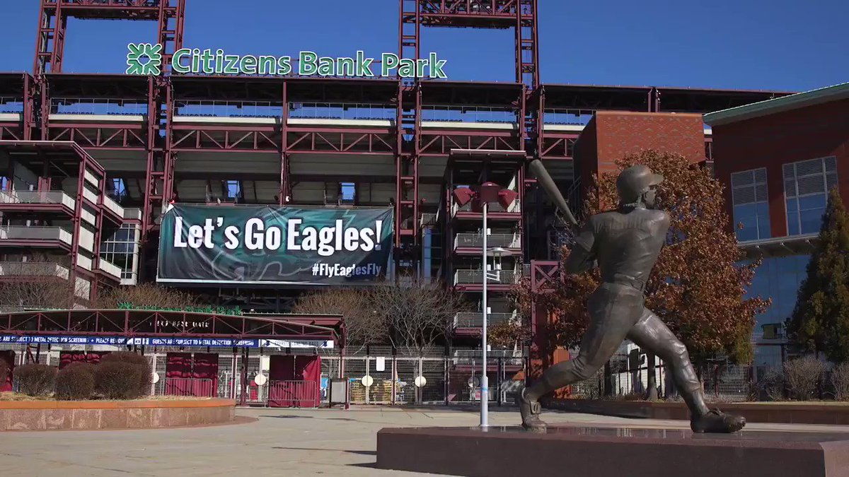 A little upgrade to the @Eagles banner at Citizens Bank Park. #FlyEaglesFly https://t.co/bzeuQwJvr7