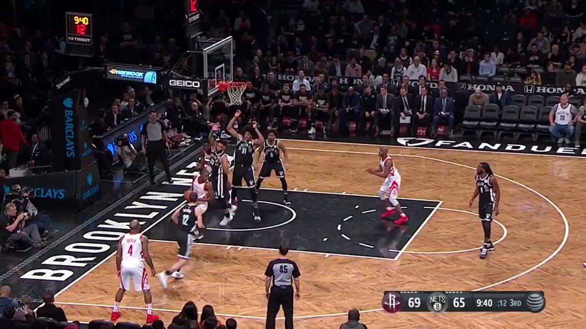 The B3ard starting the half on ��  #Rockets 76  Nets 71  ⏰ 6:44 l Q3 https://t.co/4t2BAUr1Fx