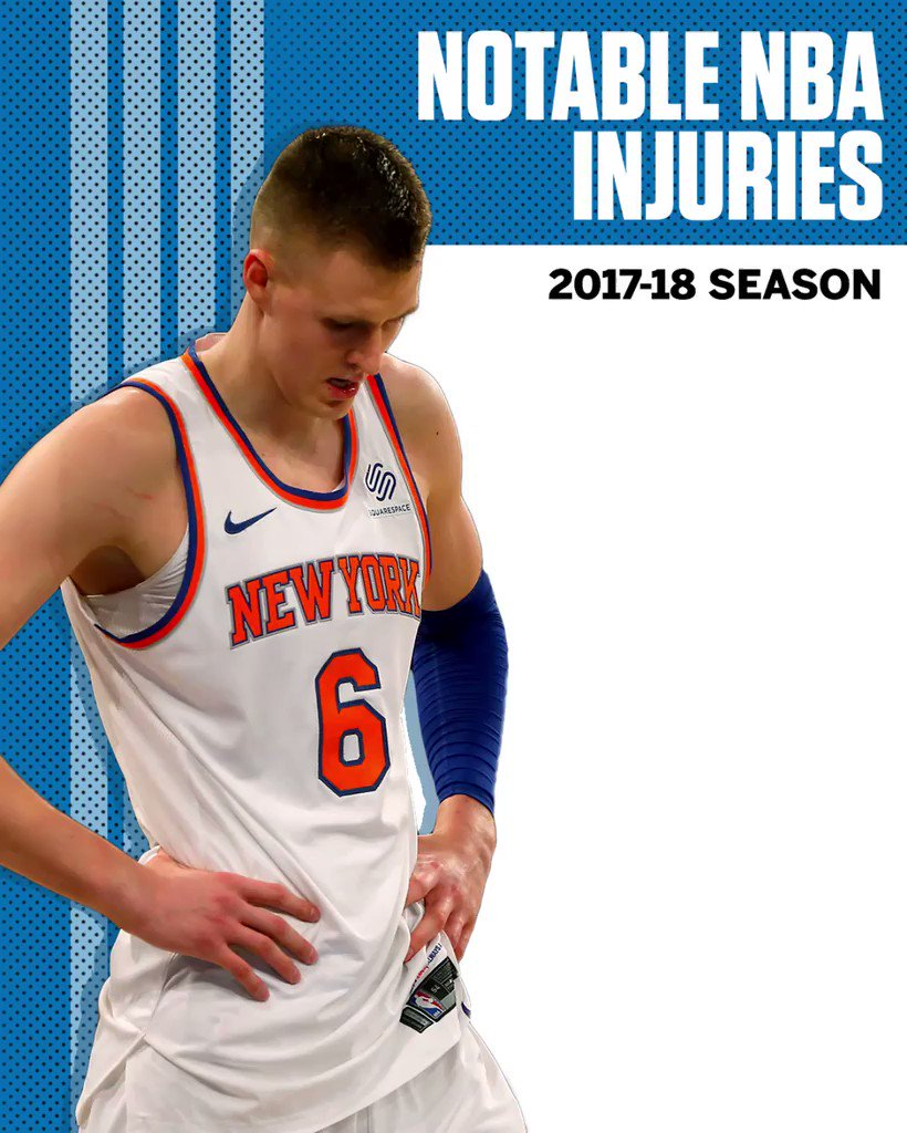 These are just some of the NBA stars that have suffered injuries this season. https://t.co/0SoIvmftAX