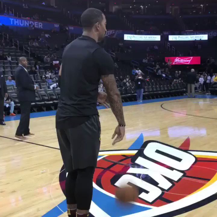 JR range! #AllForOne   ��: @cavs / @okcthunder  ��: 8 pm/et ��: @NBAonTNT #PlayersOnly https://t.co/EAO4sDpNzX
