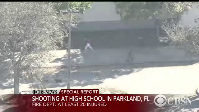 JUST IN (warning, disturbing video): Cell phone video inside the school as shots were going off at Marjory Stoneman Douglas High