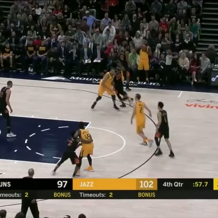 RT @SportsCenter: Donovan Mitchell = clutch https://t.co/JwAddqpEZh