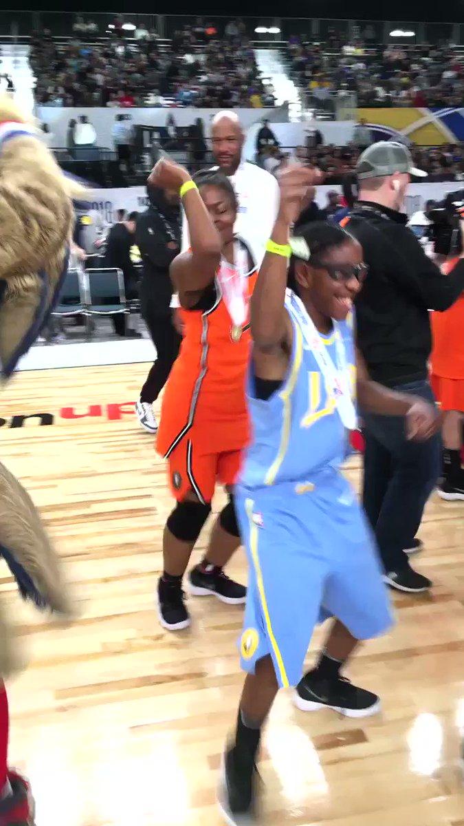 Post-game dance break! #NBAAllStar #PlayUnified https://t.co/EESse1PJPk