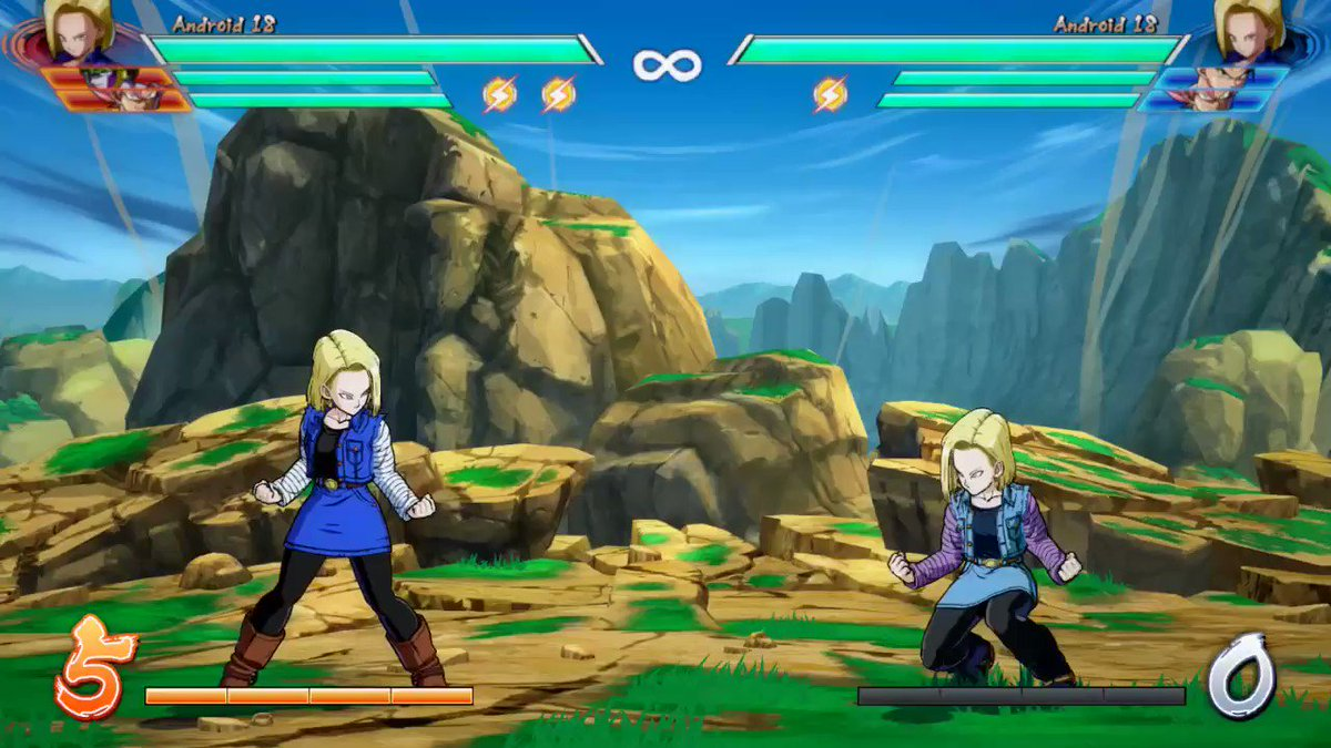 RT @GMcustom00: 7 meter gain with Android 17 and Android 18 shield LOL #DBFZ https://t.co/wbWXPahR9v