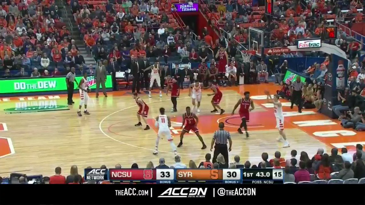 Oshae Brissett (25 points) was 🔥 for @Cuse_MBB in last week's tilt with NC State. https://t.co/m63KIE2SUn