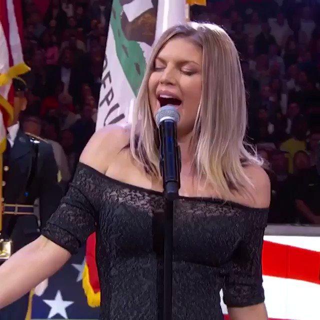 Fergie sings  Cardi listens fergie