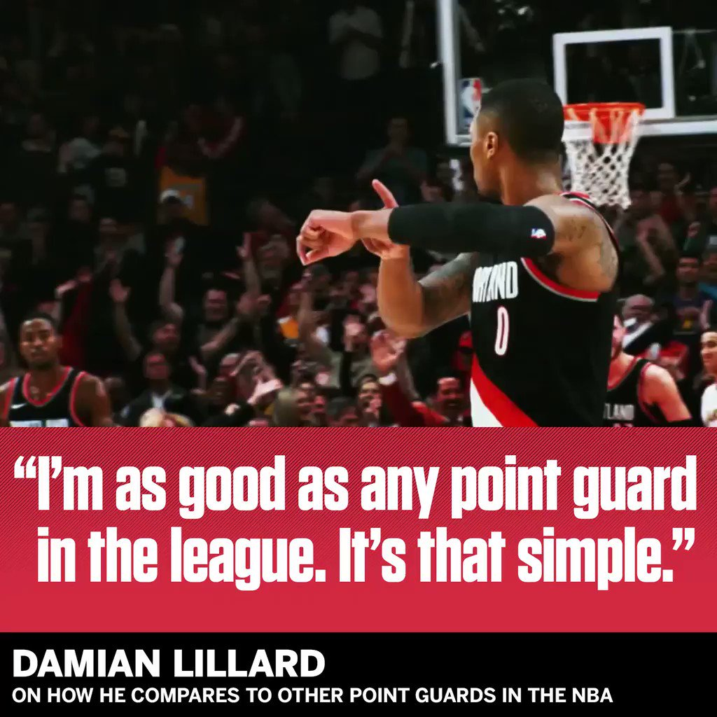 Agree with Dame? https://t.co/ju3ajZQR3J