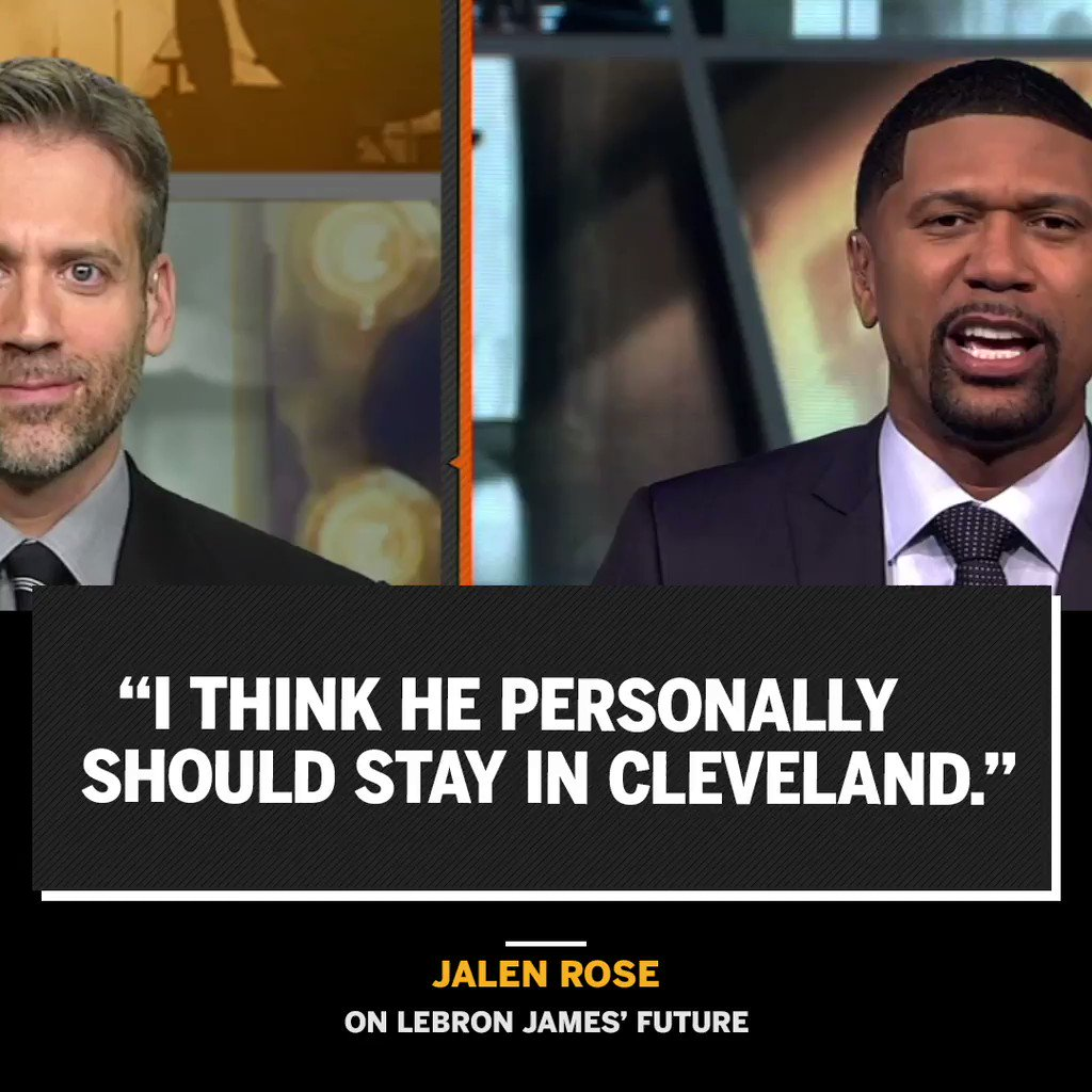 RT @FirstTake: .@JalenRose thinks LeBron should go ahead and put a ring on it. https://t.co/jxXedTxJvK