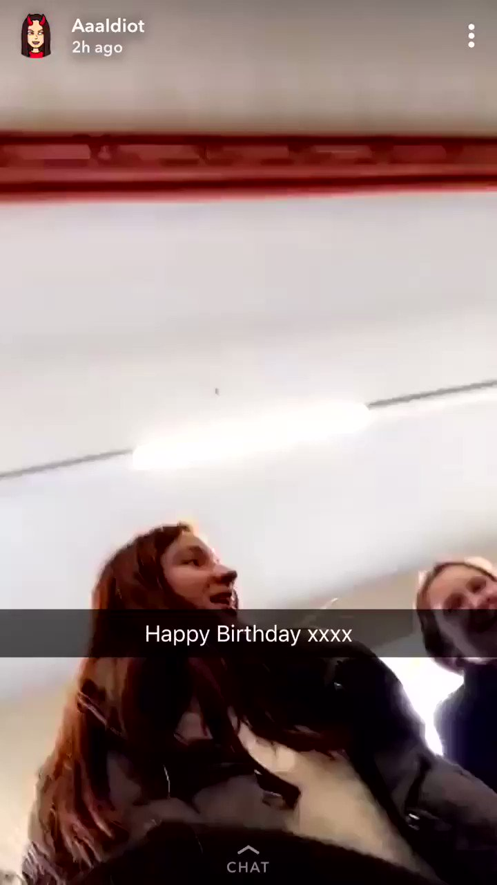 In the middle of a common room full of sixth formers my irls sang happy birthday to me