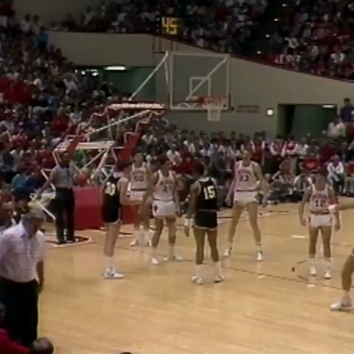 On This Date in 1985, Bobby Knight got upset and took it out on a chair. https://t.co/klbgkdjItG