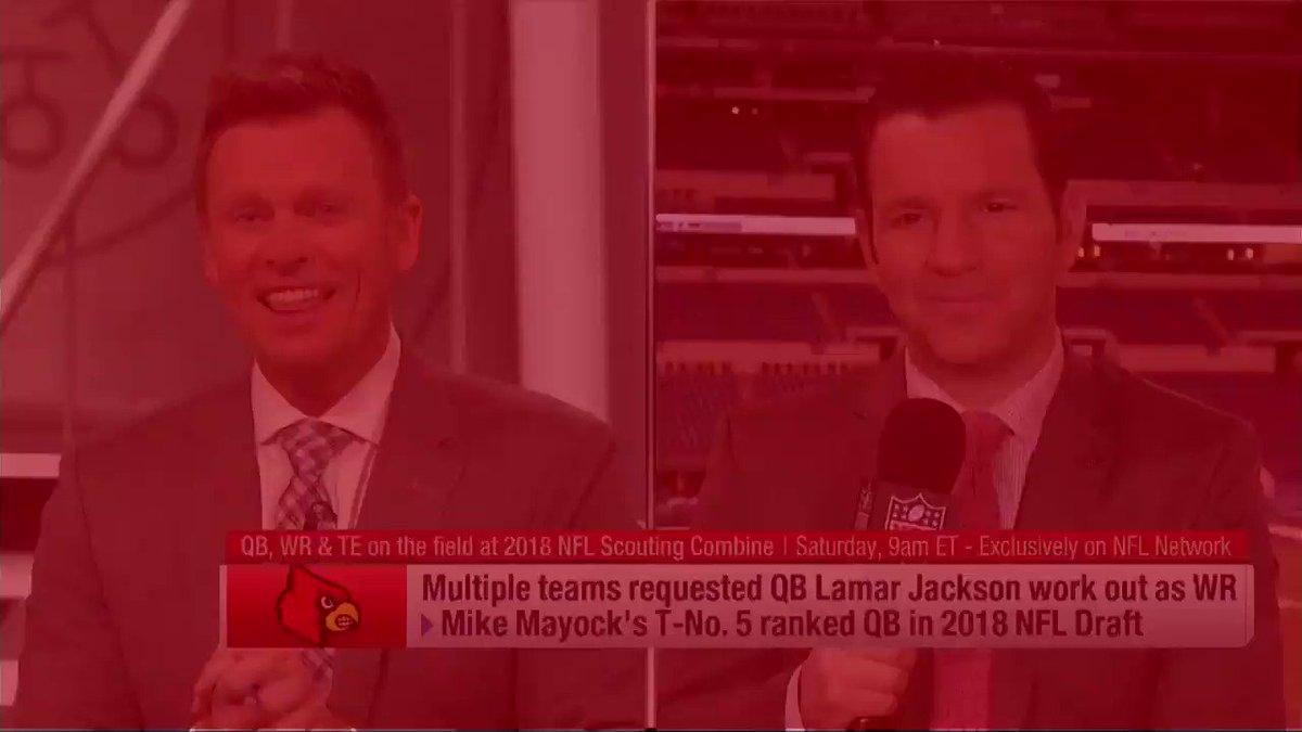 From @NFLTotalAccess: Louisville QB Lamar Jackson is a QB. The end. https://t.co/NXsLC6rduS