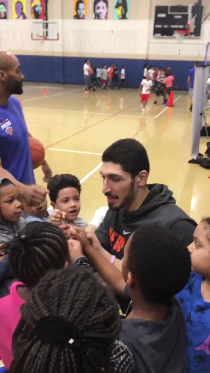 RT @Enes_Kanter: Had so much fun ???????? @juniorknicks  #ThisIsWhyWePlay @nbacares https://t.co/Wrp77xirIu