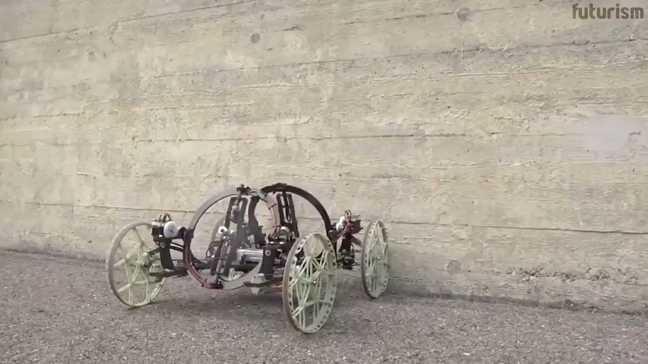 This gravity-defying #robot can drive up vertical walls. #ai #robotics #automation #autonomousdriving #artificialintelligence #machinelearning #robots https://t.co/d0qoS3HnqD