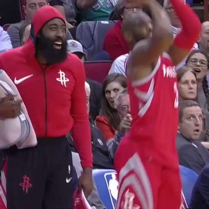 We've all got that teammate who hypes you up like @JHarden13 does @CP3 �� https://t.co/Tc3XtSRMEv
