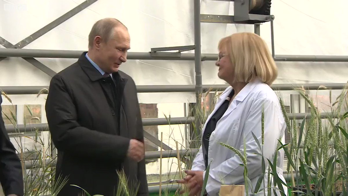 At Russia's National Grain Centre, I ask Vladimir Putin: 'Is Russia behind the poisoning of Sergei Skripal?' https://t.co/5ve7U82Hwa