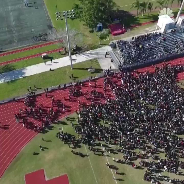 WATCH: Drone footage shows Parkland students participating in #NationalWalkoutDay https://t.co/CMrz18WeFT https://t.co/q7sEKqAmO6