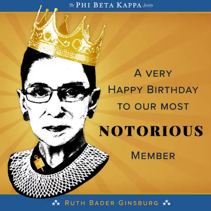 Happy Birthday to Ruth Bader Ginsburg!