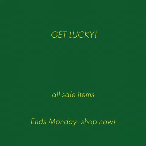 ��Luck of the stylish!�� Sale items at https://t.co/F1qKGO3L0N are an extra 30% off through Monday! https://t.co/1PuNYjj1uP