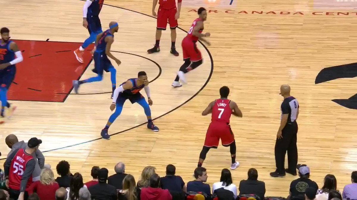 Serge starts it from deep!  #ThunderUp x  #WeTheNorth   ��: https://t.co/zOID8JGPAu https://t.co/o05AaIt3ew