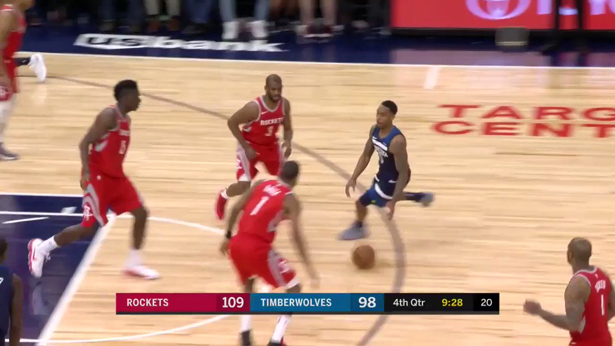 15-5 @timberwolves run makes it a 9 point game on @NBATV  #Rockets 109 | #AllEyesNorth 100 with 8:02 left! https://t.co/FZTBvyWTcC