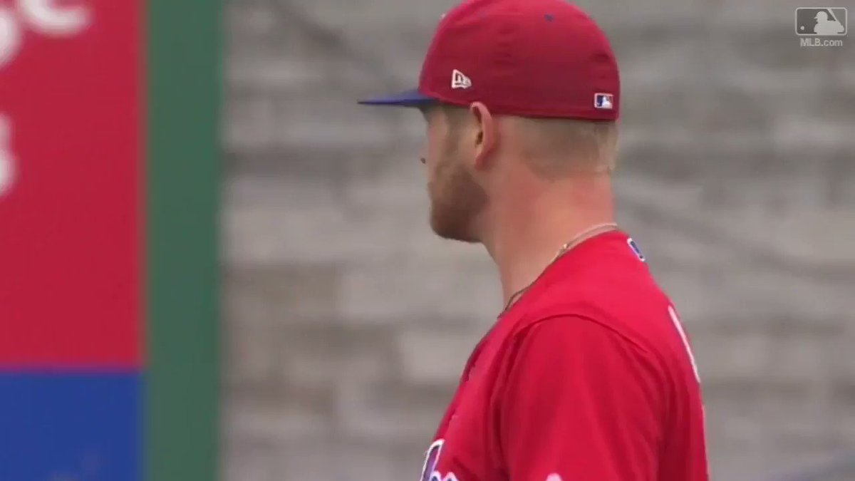 Ben had some lively movement on his pitches today.  *whispers to self* why are you like this, #AtPhillies? https://t.co/m9Ky0DlQCy