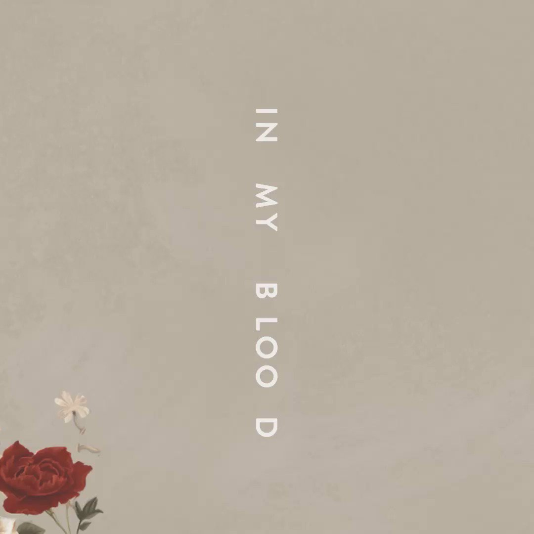 New single #InMyBlood out now! Go stream & download x https://t.co/5B6dOhQPnT https://t.co/yKHLhzKrFa