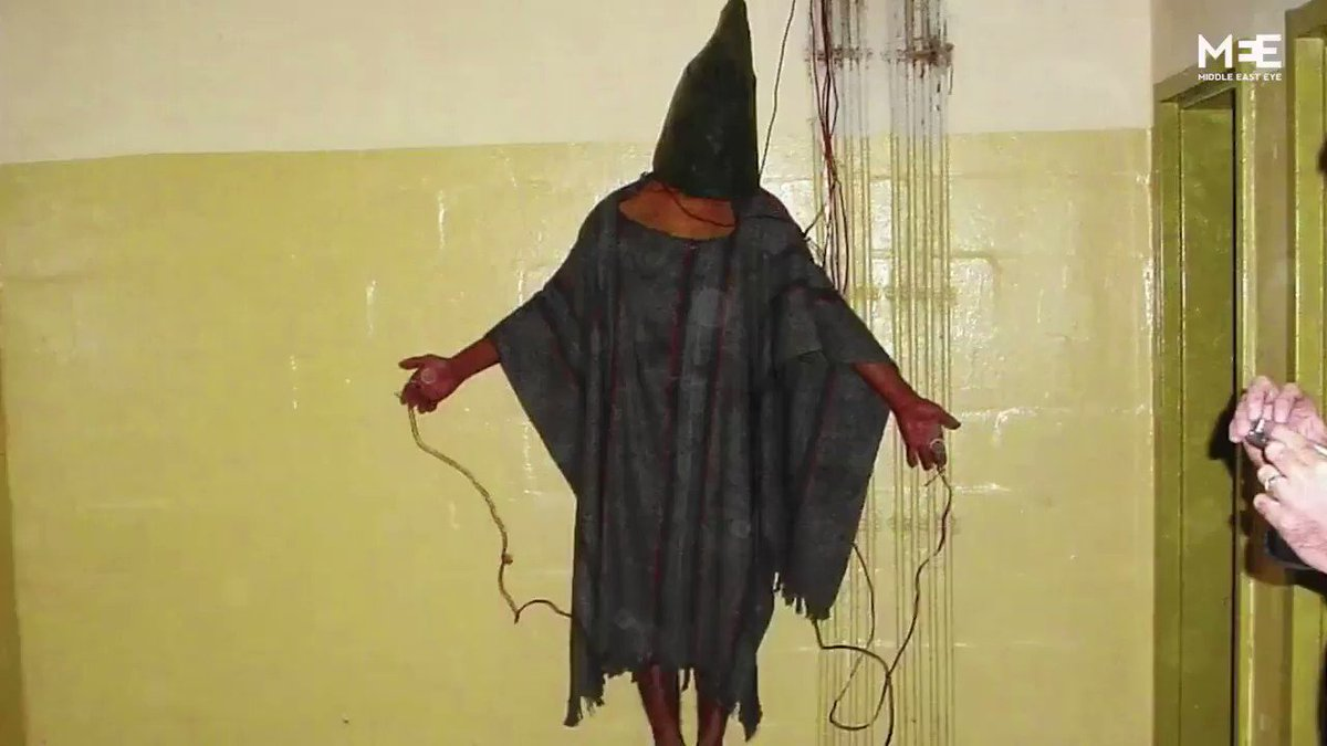 Meet the man who was under the hood, electrocuted and urinated upon by US forces at Abu Ghraib. https://t.co/3FhVxJpwNB