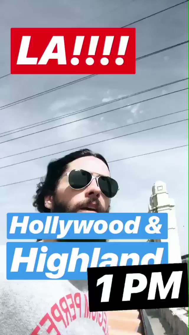 HOLLYWOOD X HIGHLAND  1PM  #MARSACROSSAMERICA https://t.co/IoHBRCgYDp