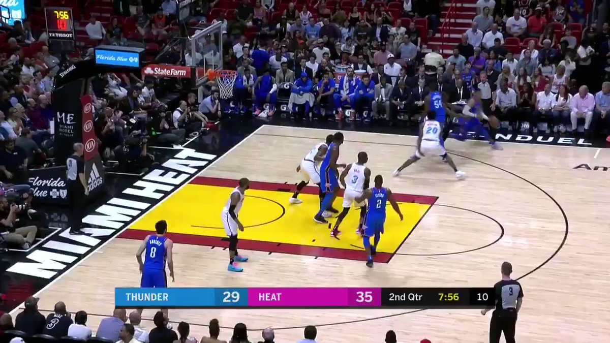 Russ heats up �� �� #OKCvsMIA https://t.co/5grS4rJ6Vt