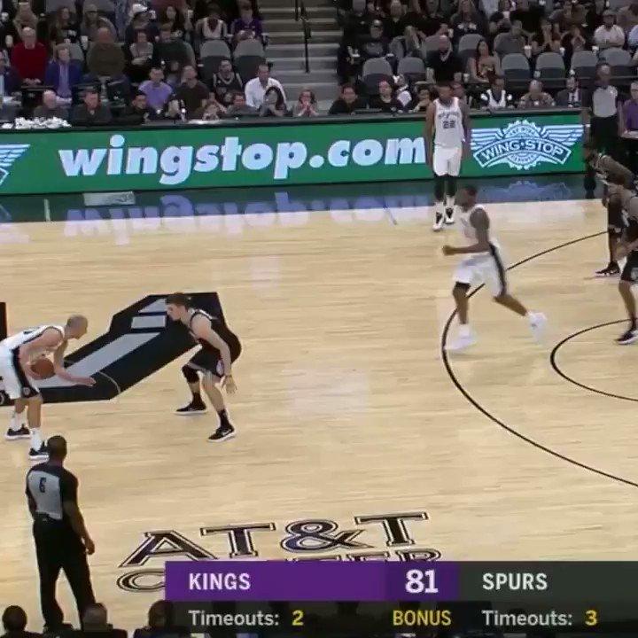 Manu got San Antonio on its feet! �� https://t.co/pTjOSNE9NG