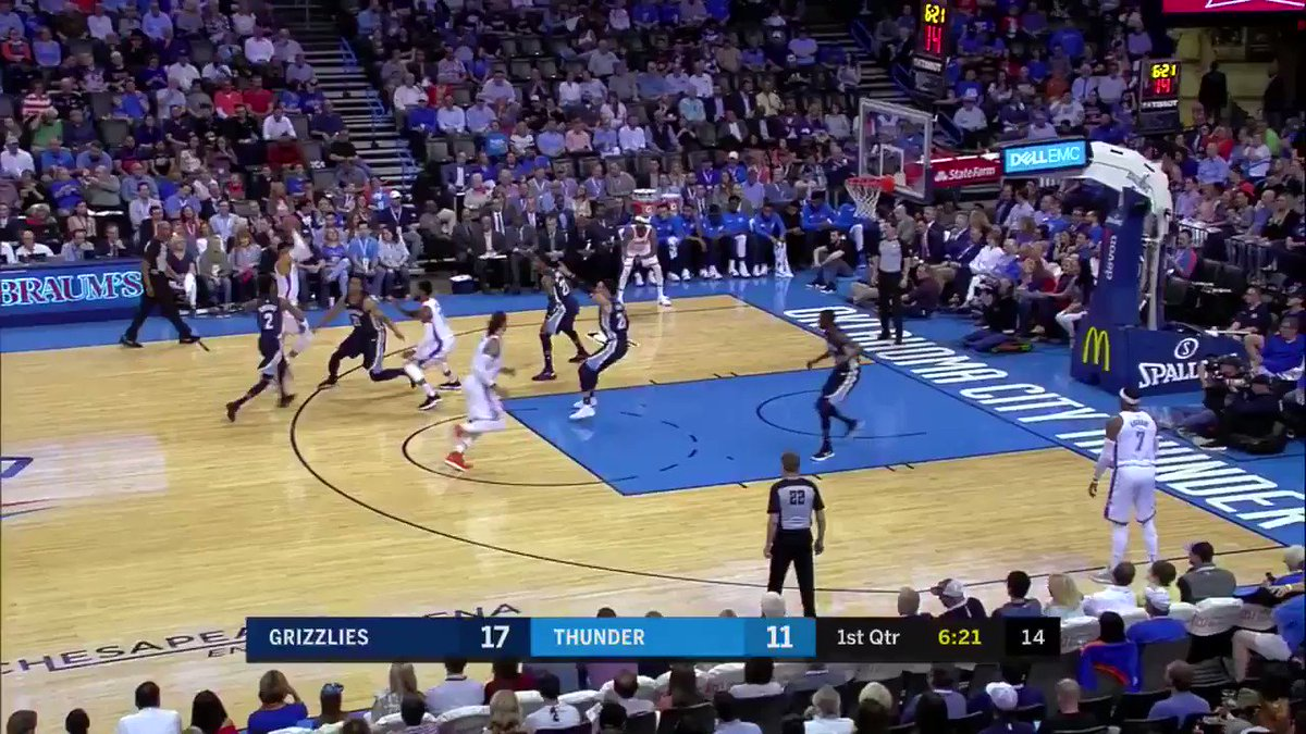 �� PG brings it early �� 10 quick ones @FOXSportsOK https://t.co/MqNM0nHB97