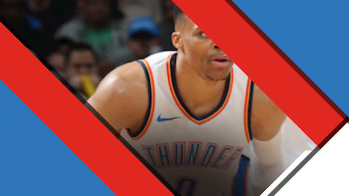 All Thunder.  PG: 26 points (5 threes) Russ: 11r/12a Steven: 18p https://t.co/mdgXUln927