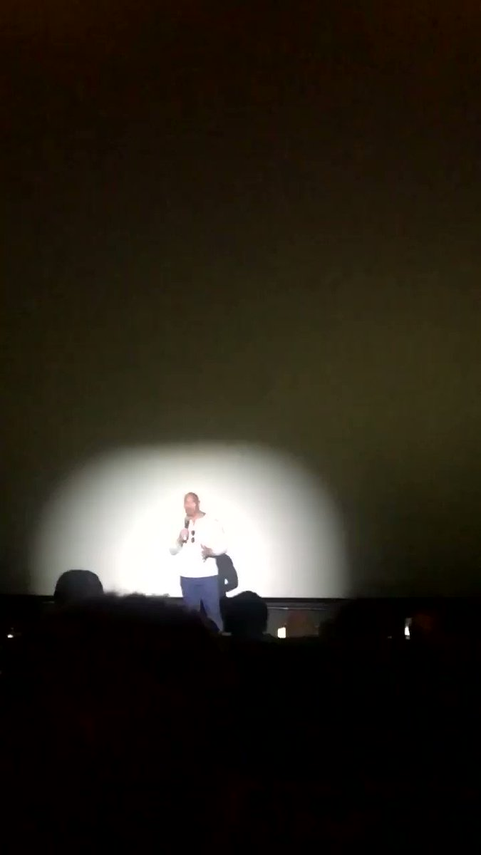 RT @SandEEE_: When @TheRock surprises the audience ! If you haven't yet checked out #Rampage, must see! #Burbank https://t.co/rghx8f9Ege