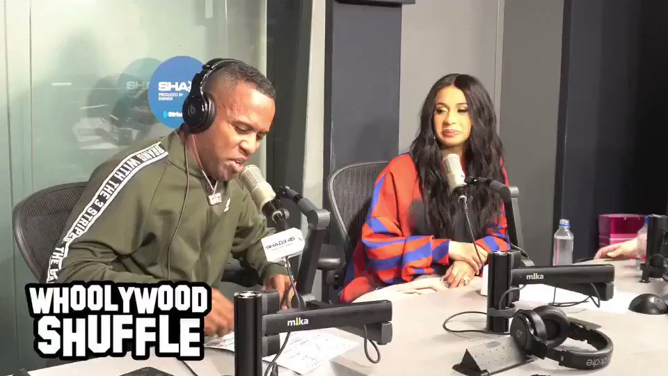 Shots Fired! @iamcardib vs @TheEllenShow �������� on site! @Shade45 #Whoolywoodshuffle �� https://t.co/b1VgHxJcFt